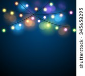 glowing lights   colorful fairy ... | Shutterstock . vector #345658295