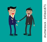 two cartoon businessmans... | Shutterstock . vector #345661871