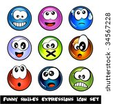 colorful set of funny smiles... | Shutterstock . vector #34567228
