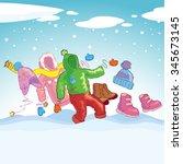 winter clothes 4   Shutterstock .eps vector #345673145