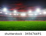 football stadium before the... | Shutterstock . vector #345676691