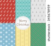 merry christmas pattern... | Shutterstock .eps vector #345678959