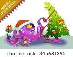 illustration  the octopus... | Shutterstock . vector #345681395