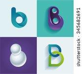 logo idea of letter b set