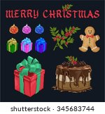 beautiful christmas vector pack | Shutterstock .eps vector #345683744