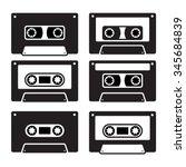 retro cassette tapes  vector... | Shutterstock .eps vector #345684839