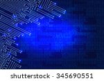 drawing modern electronic...   Shutterstock . vector #345690551