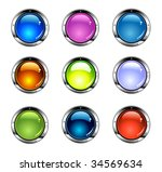 colorful glossy internet... | Shutterstock .eps vector #34569634