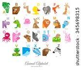 animal english alphabet ... | Shutterstock .eps vector #345698315