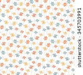 summer floral background. tiny... | Shutterstock .eps vector #345703991