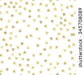 golden stars confetti...   Shutterstock . vector #345708089