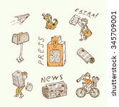 Press.  Newspaper Vector Icons...
