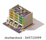 vector isometric icon or... | Shutterstock .eps vector #345715499