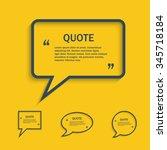 quote line speech bubble set   Shutterstock . vector #345718184