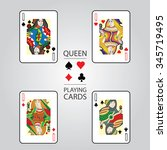 set of playing cards vector ...