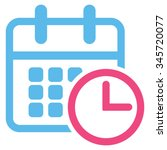 timetable vector icon. style is ... | Shutterstock .eps vector #345720077
