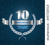 10 year anniversary emblem with ... | Shutterstock .eps vector #345720515