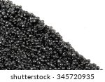 black caviar as a texture on... | Shutterstock . vector #345720935