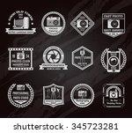 photo industry chalkboard... | Shutterstock .eps vector #345723281
