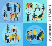 mental disorder counseling... | Shutterstock .eps vector #345723641