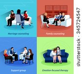 marriage counseling center... | Shutterstock .eps vector #345724547