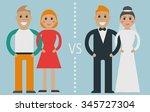 type of relationships  common... | Shutterstock .eps vector #345727304