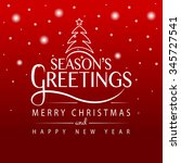 hand sketched seasons greetings ... | Shutterstock .eps vector #345727541