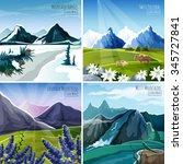 mountain landscapes design...   Shutterstock .eps vector #345727841