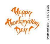 happy thanksgiving day... | Shutterstock . vector #345731621