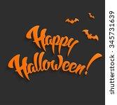 happy halloween background with ... | Shutterstock . vector #345731639