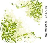 floral background | Shutterstock .eps vector #3457345