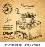 vector illustration of coffee... | Shutterstock .eps vector #345739085