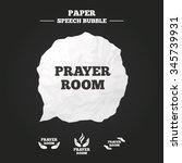 prayer room icons. religion... | Shutterstock .eps vector #345739931