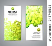 set of vector poster banners... | Shutterstock .eps vector #345745835