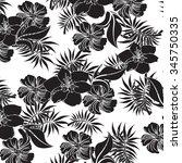 seamless flower background  ... | Shutterstock .eps vector #345750335