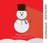 snowman vector illustration | Shutterstock .eps vector #345761495