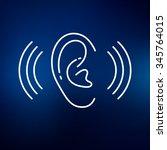 ear hearing icon. volume hear... | Shutterstock .eps vector #345764015