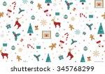 christmas seamless pattern...   Shutterstock .eps vector #345768299