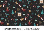christmas seamless pattern... | Shutterstock .eps vector #345768329