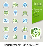 lineo papercut   logistics and... | Shutterstock .eps vector #345768629