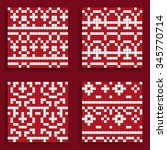 pixel patterns for sweaters.... | Shutterstock .eps vector #345770714