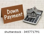 home mortgage down payment  a... | Shutterstock . vector #345771791