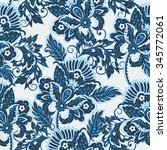 elegance seamless pattern with... | Shutterstock .eps vector #345772061