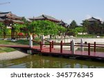 on may 2  2013 tourists in xi ...   Shutterstock . vector #345776345
