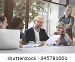 business people meeting... | Shutterstock . vector #345781001