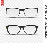 glasses isolated on transparent ... | Shutterstock .eps vector #345782165