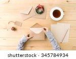 Letter For Santa. Female Hand...