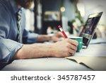 office business analysis... | Shutterstock . vector #345787457