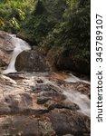 hui ka ting water fall ... | Shutterstock . vector #345789107
