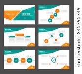green and orange presentation... | Shutterstock .eps vector #345795749